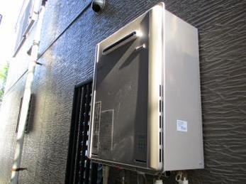 リンナイ エコジョーズ付ガスふろ給湯器 RUF型24号の施工事例です。<br>この事例を見る事で、ガス給湯器エコジョーズの設置の様子がわかります。
